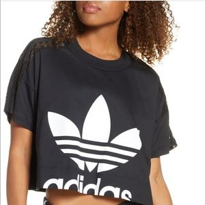Adidas Lace Stripe Logo Graphic Tee